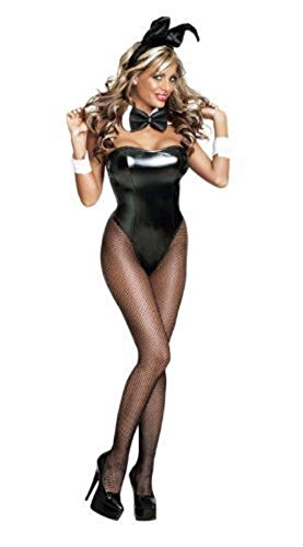 ladies-sexy-black-white-bunny-girl-hostess-fancy-dress-costume-adult-outfit-size-12