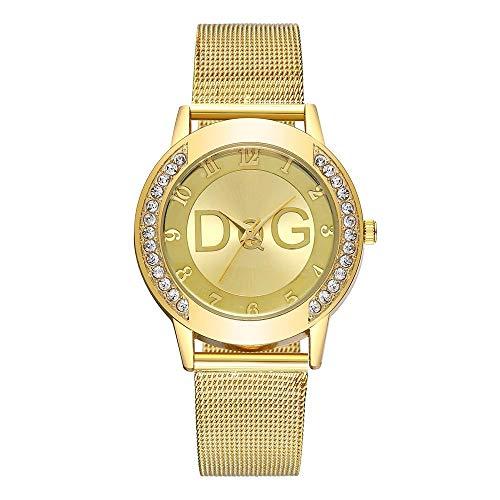 Hot Sale.firally Simple Mode Femme de la Sangle Regarde Cas de Strass Horloge Couleur Puro Wristwatches Montres de Poignet Montres pour Femme Or