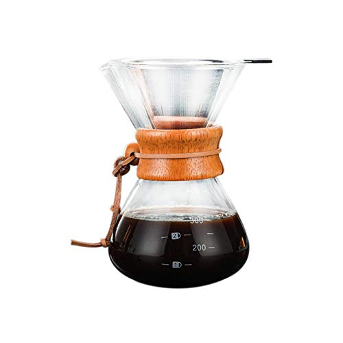 ACAMPTAR Classic Series, Uebergiessene Kaffeemaschine Aus Glas, 3 Tassen Fp2-serie