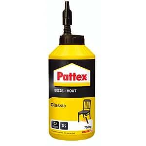 Pattex Biberon de Colle à bois - Classic 750 g - Transparent