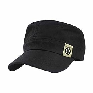 squarex Fashion Unisex Flat Roof Military Hat Cadet Patrol Bush Hat Baseball Field Cap (Coffee) 7