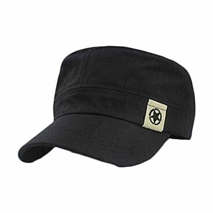 squarex Fashion Unisex Flat Roof Military Hat Cadet Patrol Bush Hat Baseball Field Cap (Coffee) 1