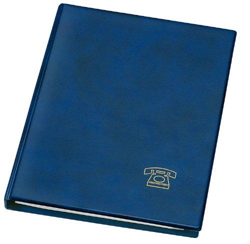 Veloflex - Agenda telefonica ad anelli, A5, Vel 5158, colore: Blu