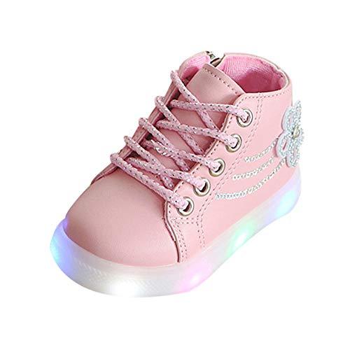 SuperSU Babyschuhe Breathable LED Licht Wanderschuhe Schuhe Leuchtschuhe Kinderschuhe für Halloween Kleinkind Baby Jungen Mädchen Weihnachten Sportschuhe Sneaker