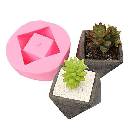 domiluoyoyo DIY fleischigen Blumentopf Silikonform Dekoration Handwerk Sukkulenten Beton Pflanzer...