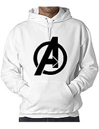 WearIndia Super Hero Avenger Printed Unisex Pullover Cotton Hoodies Sweatshirt for Men and Women/Printed Red Hoodie/Graphic Printed Hoodie/Hoodie for Men & Women/Warm Hoodie/Unisex Hoodie
