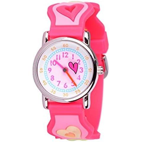 WOLFTEETH Joven niñas niños niños lindo reloj de pulsera, 3D personaje de dibujos animados 3036
