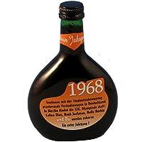 """Bocksbeutel zum 50. Geburtstag """"Jahrgang 1968"""" 0,25 l Franken Qualitätswein"""