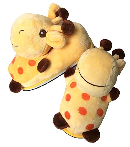 Winter Warm Giraffe Slippers, 3D Cartoon Plush Giraffe Boots,Home Non-Slip Bedroom Shoes for Women