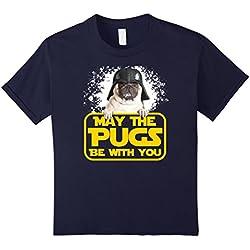 Pug Wars Tees - Camiseta - Unisex adulto azul marino Tamaño de la cintura:90 cm
