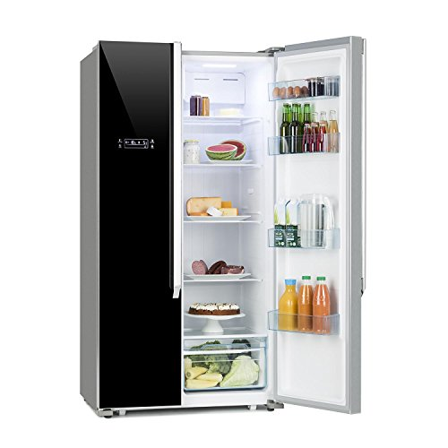 DESIGNED IN GERMANY* Klarstein Grand Host XL/Side by Side Kühl-Gefrier-Schrank / 517 Liter / 336 kWh/Jahr/No Frost/A++ / Doppeltür-Gefrier-Kühl-Kombination/Display Control/schwarz