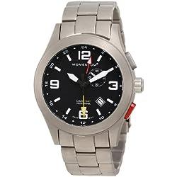 Momentum Herren-Armbanduhr XL VORTECH GMT Analog Quarz Titan 1M-SP58B0