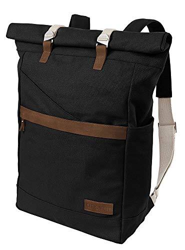 MELAWEAR Ansvar I Rucksack Roll Top aus Bio Baumwoll Canvas - Hochwertiger Damen & Herren Vintage Tagesrucksack aus 100% nachha...
