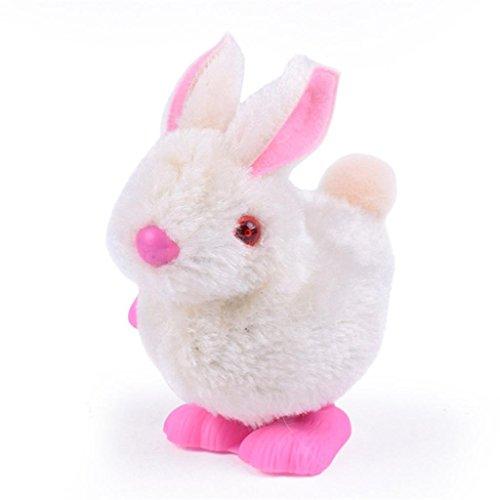 Plüsch Hase Spielzeuge Säugling Kind Ausgestopft Spielzeuge Hüpfen Aufziehen Sammeln Ostern Geschenk Hirolan 9 x6 x7CM Adorable Plüschtiere (Zufällig)
