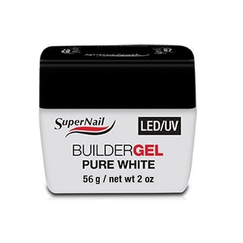 SuperNail LED/UV - Builder Gel Pure White - 2oz / 56g - 51607