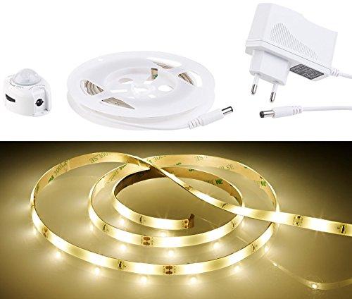 Lunartec Bettbeleuchtung: LED-Bettlicht für Einzelbett, Bewegungssensor, 1,2 m, kürzbar, 36 LEDs (LED Bettbeleuchtung)