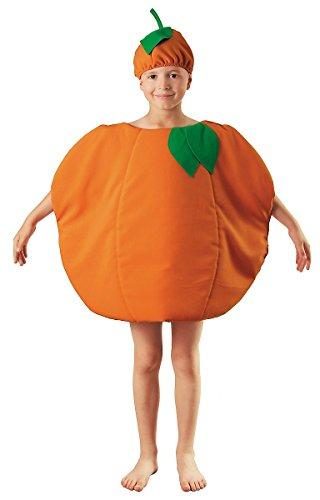 üm Kinder - Obst Früchte Kostüm für Kinder für Jungen und Mädchen Karneval - Orangenkostüm Kinder Jungen Mädchen (Orange Frucht Kostüme)