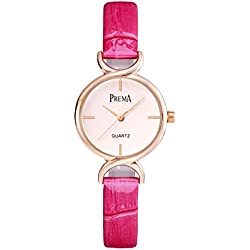 Fashion quartz Lady watch/ waterproof leather strap watch/Simple casual watches-C