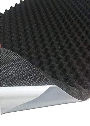 Akustikschaumstoff, Noppenschaumstoff, Dämmung (100cm x 50cm x h) Weiß o. Schwarz (100 x 50 x 4, Anth/Schwarz)
