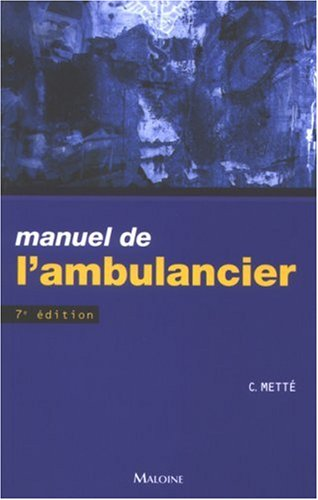 Manuel de l'ambulancier