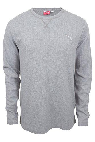 Mens Long Sleeve Thermal Tee (Puma Mens Long Sleeve Thermal Tee (Medium Gray Heather, XX-Large))