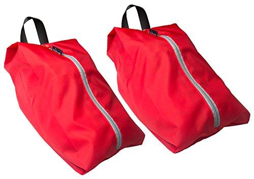 TRAVANDO ® Schuhtasche 2er Set | Wasserfeste Schuhbeutel Reise, Koffer, Gepäck | Schmutzabweisender Schuhsack Reise für Schuhe, Urlaub Shoebag Tasche zur Trennung von Schuhen und Kleidung Reisezube