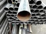 Stahlrohr verzinkt Konstruktion Leitung Geländer Gewinde Metall rund dia 50 x 1.2mm Wand = 47.60mm innen 1m = 100cm = 1000mm