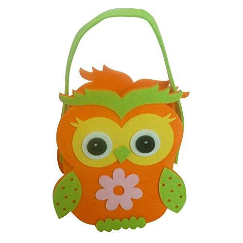 Ostern Süßigkeiten Tasche Cartoon Eule Egg Bag Tragbare Geschenkabdeckungen Kinder Erwachsene Schöne Ostern Tag Treat Körbe Patchwork Tote Bag Handtasche