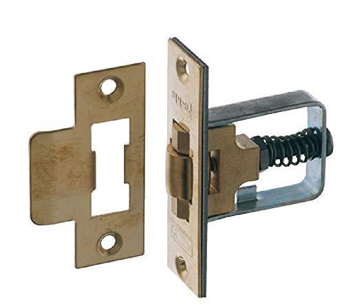 Preisvergleich Produktbild Gedotec Schwingtür-Schloss Montage Pendel-Türschloss einstecken Einsteckschloss montieren - H4477 Startec / Messing poliert / ohne Schlosskasten / 1 Set