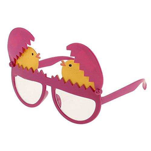 MagiDeal Kunststoff Dekobrille Lustige Partybrille Sonnenbrille Kostüm Zubehör für Weihnachten Feier Party Halloween Junggesellinnenabschied Party - Ei Küken