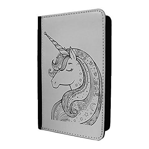 Licornes Jolie Cheval Porte-passeport Étui Coque - S1983