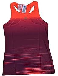 adidas G Adizero Tank - Camiseta para mujer, color rojo / naranja