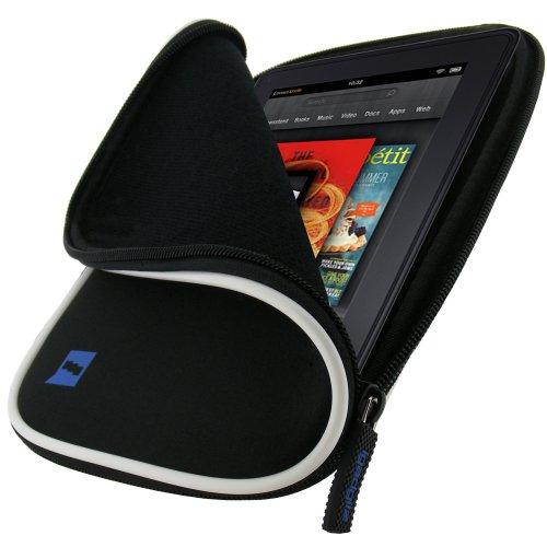 igadgitz Schwarz Neopren Tasche Beutel Hülle für Samsung Galaxy Tab P1000 GT-P6200 GT-P6210 7.0 & Tab 2 GT-P3100 GT-P3110 Internet Tablet