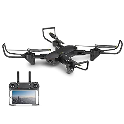 Beautyrain SG700 FPV Foldable RC Drone with 720P HD WiFi 2.0MP Dual Camera Live Video - Headless Mode, One Key Return, Optical Flow, Foldable Arms, Gesture Photographing from Beautyrain