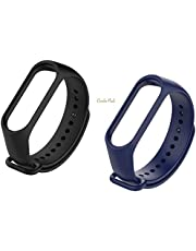 TOTU M3 Silicone Smart Band Wristband for Xiaomi Mi Band 3 Watch Strap for Mi3 Band Strap Colorful M3 Band 3 Strap watchband Bracelet Smart Accessories Combo Pack of 2 (Black & Navy Blue)