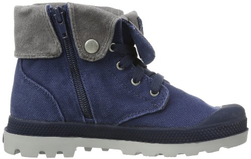 Palladium ~Baggy Zipper~~Navy/Metal~~M~, Bottes mixte enfant Bleu (Y/Metal)
