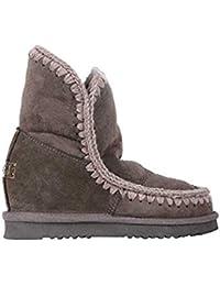 Zeppa Inner 5 Cm Di Montone Eskimo Interna Charcoal Stivale Mou In Short Con Pelle Boot vUwW57q