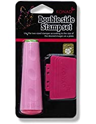 KONAD Double Tampon et XL Grattoir Grattoir–Double Side Stamp Set de double tampon