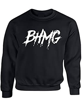 Sfera Ebbasta BHMG Logo - Felpa Hip Hop Rap Italiano, Uomo Donna