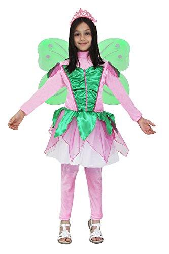 VESTITO COSTUME Maschera di CARNEVALE bambina - FARFALLA WINX ROSA - Taglia 10/11 anni - 123 cm
