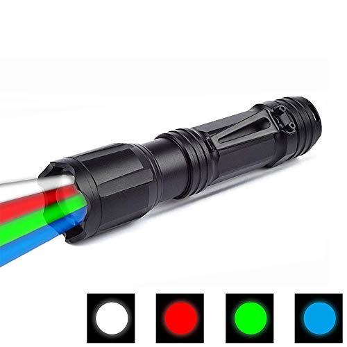Linterna LED con luz roja