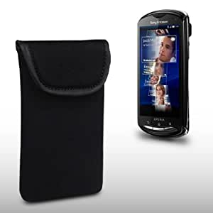 SONY ERICSSON XPERIA PRO BLACK NEOPRENE CARRY CASE / POUCH / POCKET BY CELLAPOD CASES