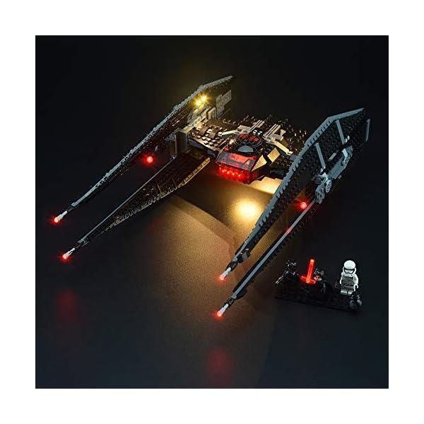 LIGHTAILING Set di Luci per (Star Wars Kylo Ren's Tie Fighter) Modello da Costruire - Kit Luce LED Compatibile con Lego… 1 spesavip