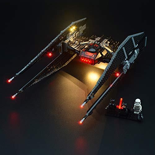 LIGHTAILING Conjunto de Luces (Star Wars Kylo Ren's Tie Fighter) Modelo de Construcción de Bloques - Kit de luz LED Compatible con Lego 75179 (NO Incluido en el Modelo)