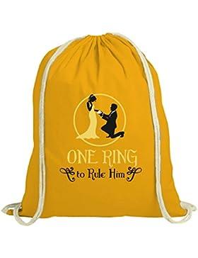 Junggesellenabschieds JGA Hochzeit natur Turnbeutel One Ring To Rule Him