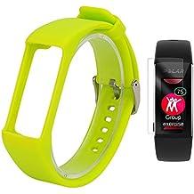 Polar A360 Band con protector de pantalla, TUSITA® Reemplazo Silicona Soft Adjustable Bracelet Brazalete deportivo WristBand Pulseras Accesorio para Polar A360 (Verde)