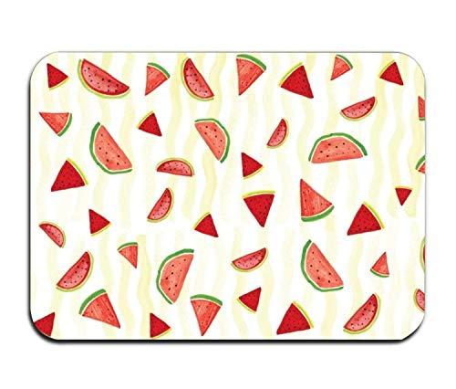 (WENEOO LA Watermelon Slice Doormat Rubber Home Decor Carpet Indoor Rectangle Floor Mat Kitchen Rug Runner)
