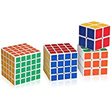 Best Price 4PCS 4 Rubik's Magic Cube 5x5x5,4x4x4,3x3x3 et 2x2x2 Rubik's Cube