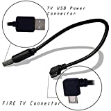 Agagadgets Power Cable For Fire TV Stick. Powers the Fire TV Stick from Your TV USB Port