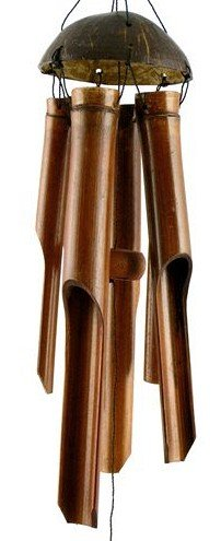 Campanelle a vento in bambù commercio equo e solidale